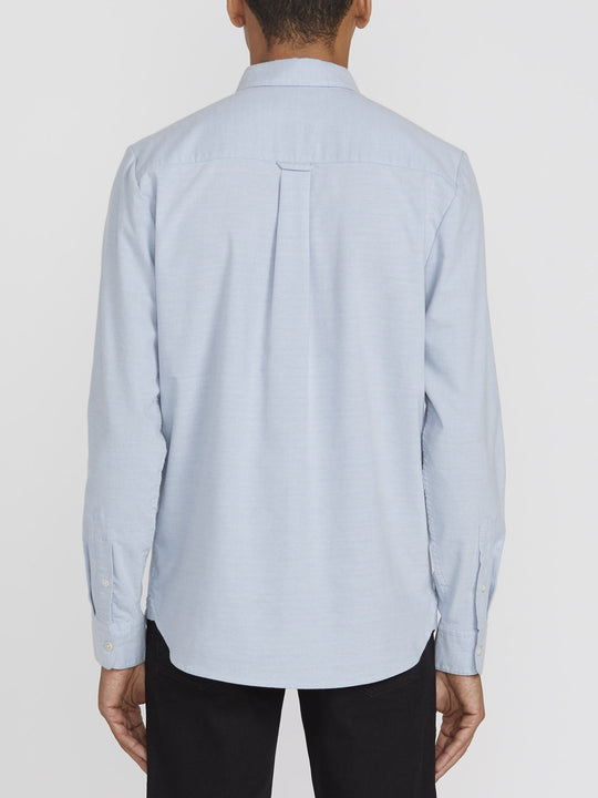 Oxford Stretch Long Sleeve Shirt  - Wrecked Indigo