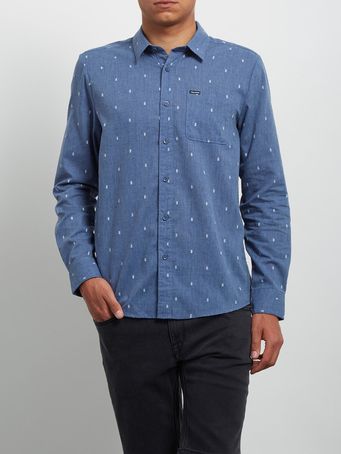 Gladstone Long Sleeve Shirt - Deep Blue