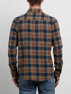 Caden Long Sleeve Shirt - Indigo