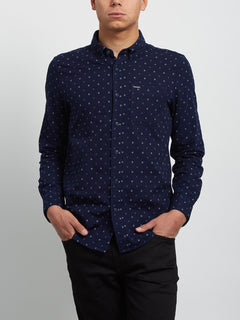 Earl Long Sleeve Shirt - Indigo