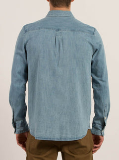 Crowley Long Sleeve Shirt - Washed Blue