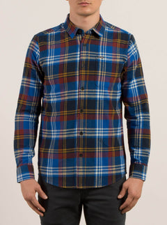 Caden Long Sleeve Flannel - True Blue