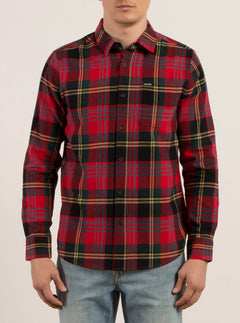 Caden Long Sleeve Flannel - True Red