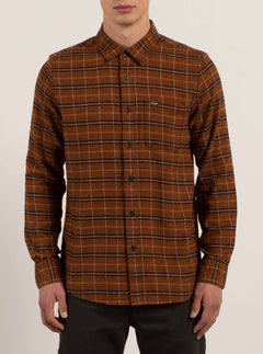 Brodus Long Sleeve Flannel - Copper