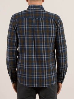 Marcos Long Sleeve Flannel - Smokey Blue