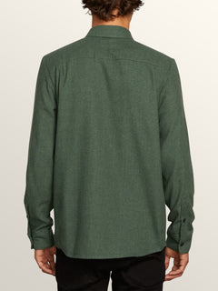 Caden Solid Long Sleeve Shirt - Dark Pine