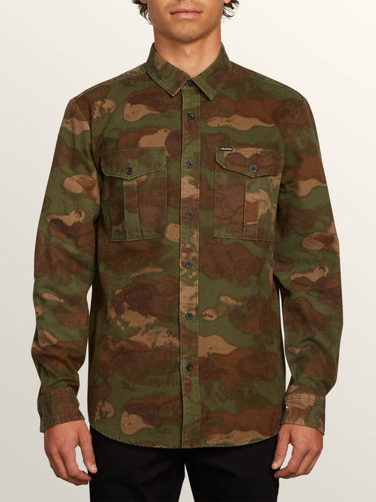 Huckster Long Sleeve Shirt - Army