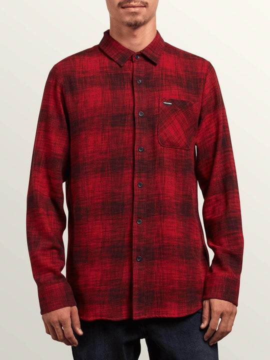 Buffalo Glitch Shirt - Engine Red