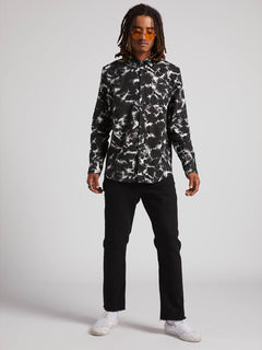 Spinner Flannel Shirt - Black (A0531901_BLK) [2]