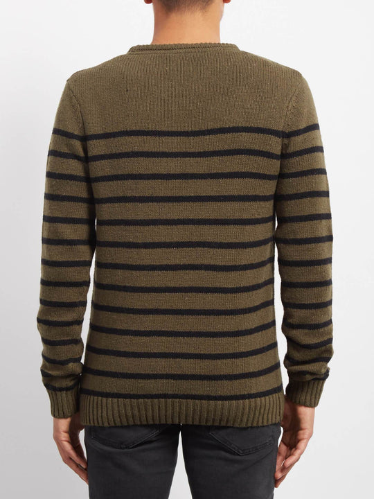 Edmonder Striped Pullover - Military