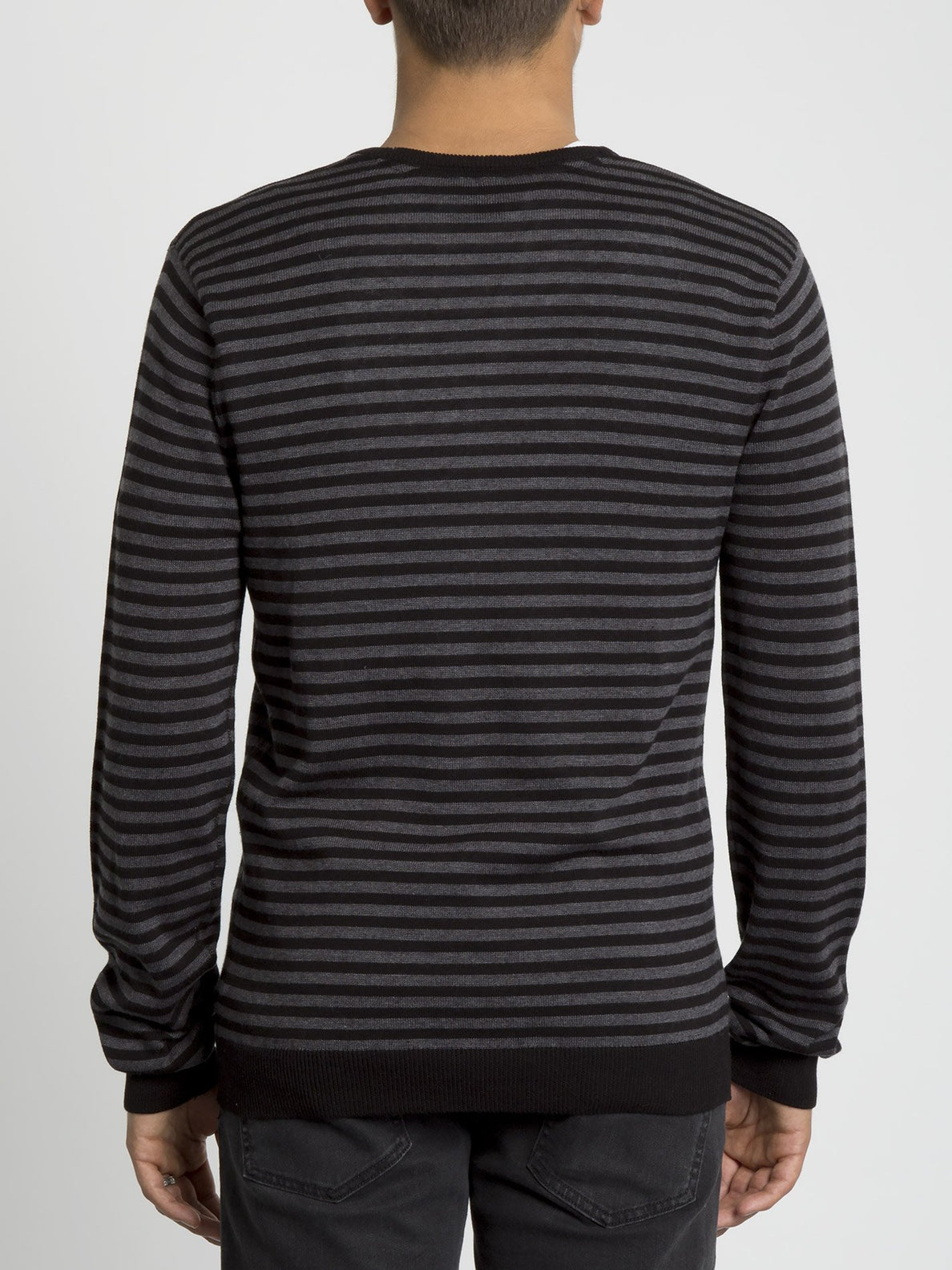 Uperstand Stripe Sweater - Heather Grey (A0731905_HGR) [B]