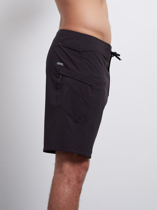 Lido Solid Mod 18 Boardshort - Black