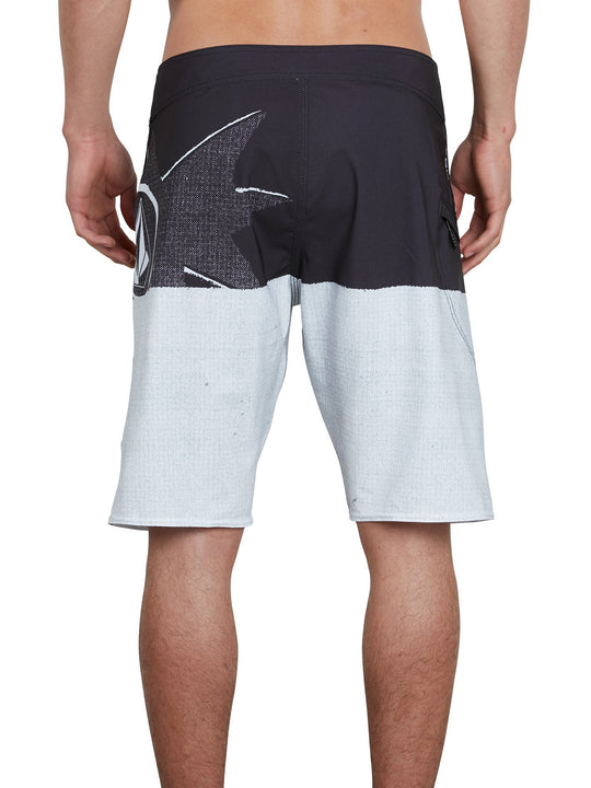 Lido Block Mod Boardshorts - Black White