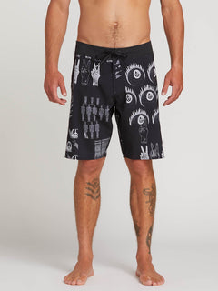 "Tablet Mod 20"" Boardshort  - Black White"