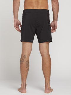 "Lido Solid Mod 16"" Boardshort  - Black"