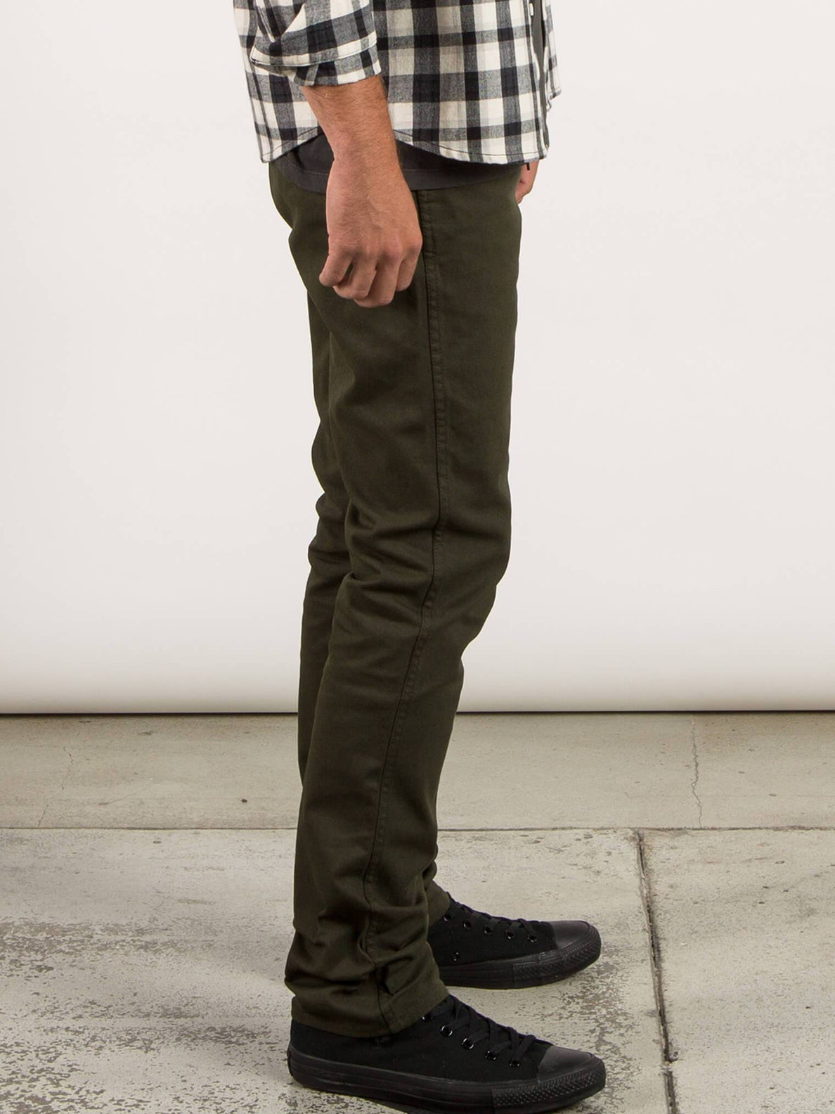 VSm Gritter Slim Chino Pants - Dark Green