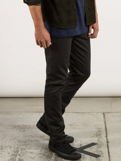 Vorta 5 Pocket Slub Slim Fit Jeans - Stealth