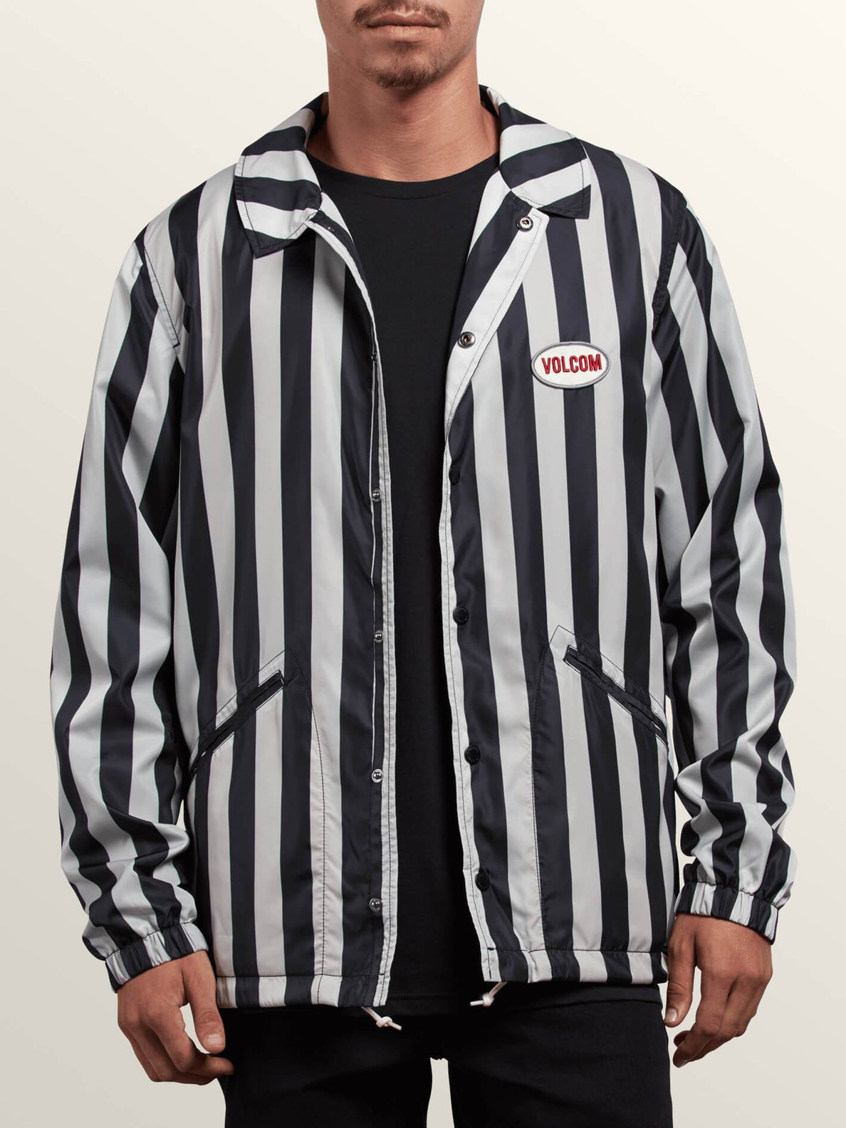 Brews Coach Jacket - Black/white
