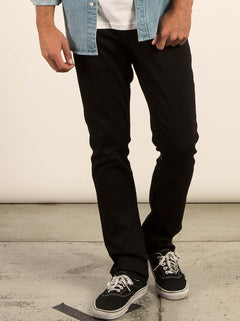 Vorta Slim Fit Jeans - Black On Black