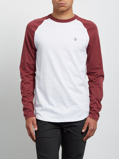 Pen Long Sleeve Tee - Crimson
