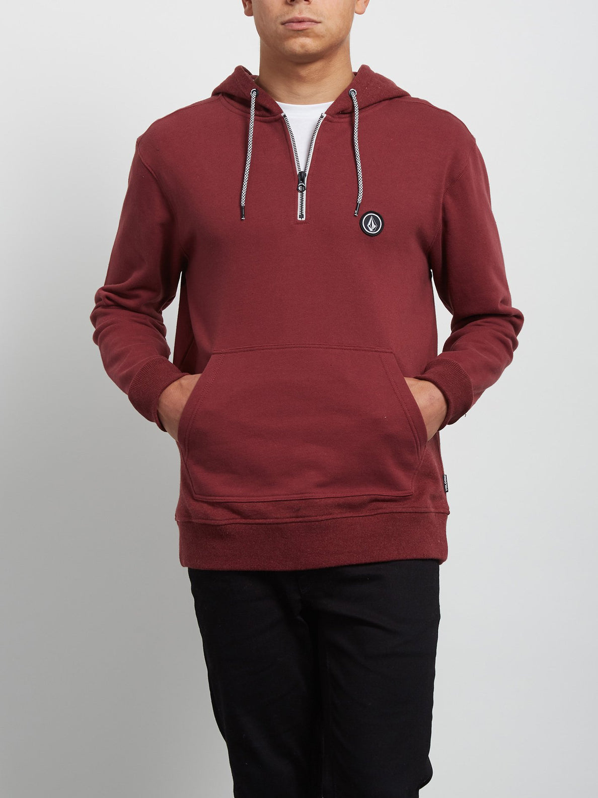 Milton Hooded Pullover - Crimson
