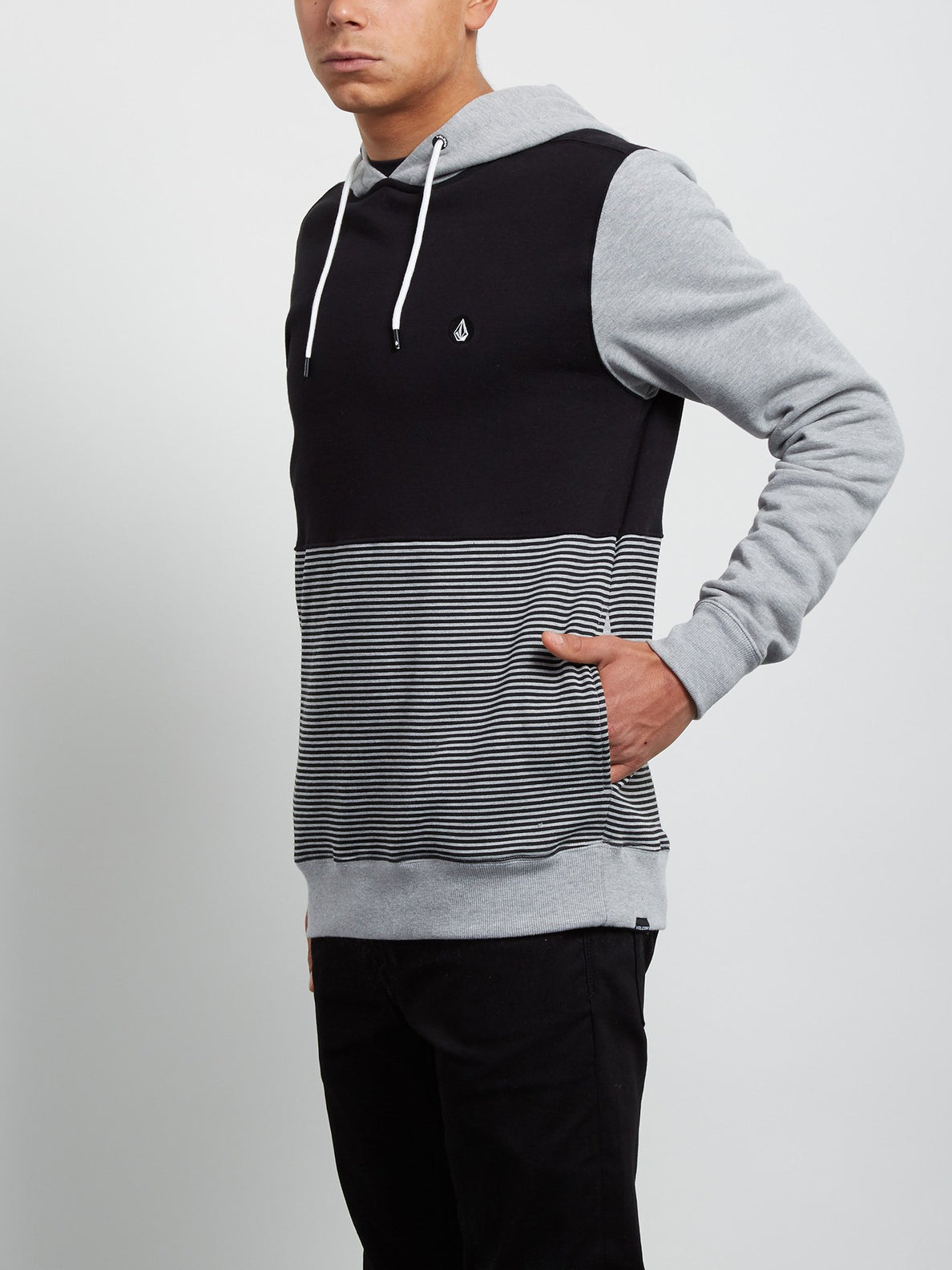 Threezy Hooded Pullover - Heather Grey