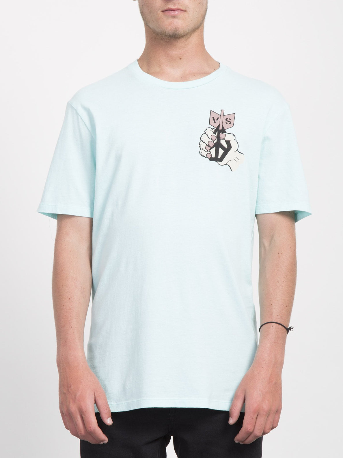 Check Two T-shirt  - Pale Aqua