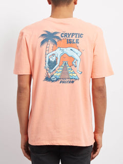 Cryptic Isle  T-shirt - Orange Glow
