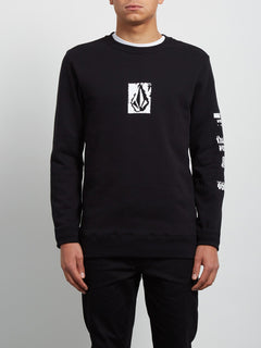 Supply Stone Crew Sweatshirt - Black