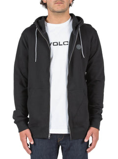 SNGL STN ZIP BLACK