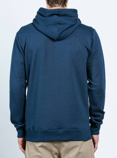 Single Stone Zip Hoodie - Blue Black