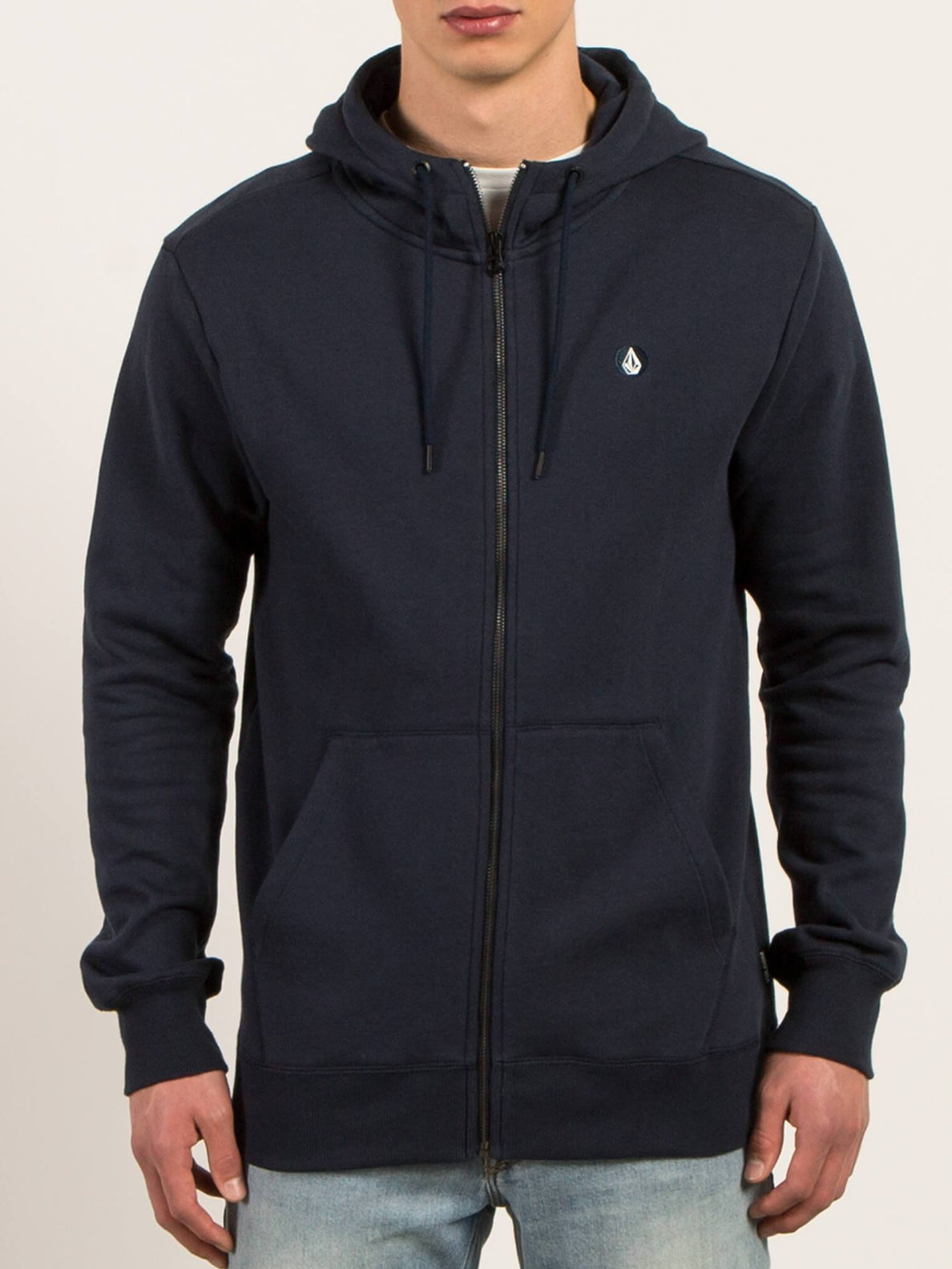 Single Stone Zip Hoodie - Navy