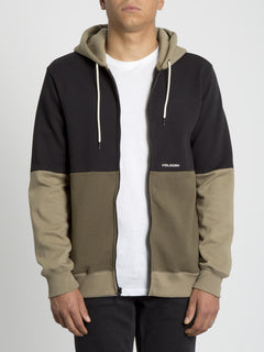 Single Stone Div Zip Hoodie - Military (A4831902_MIL) [2]