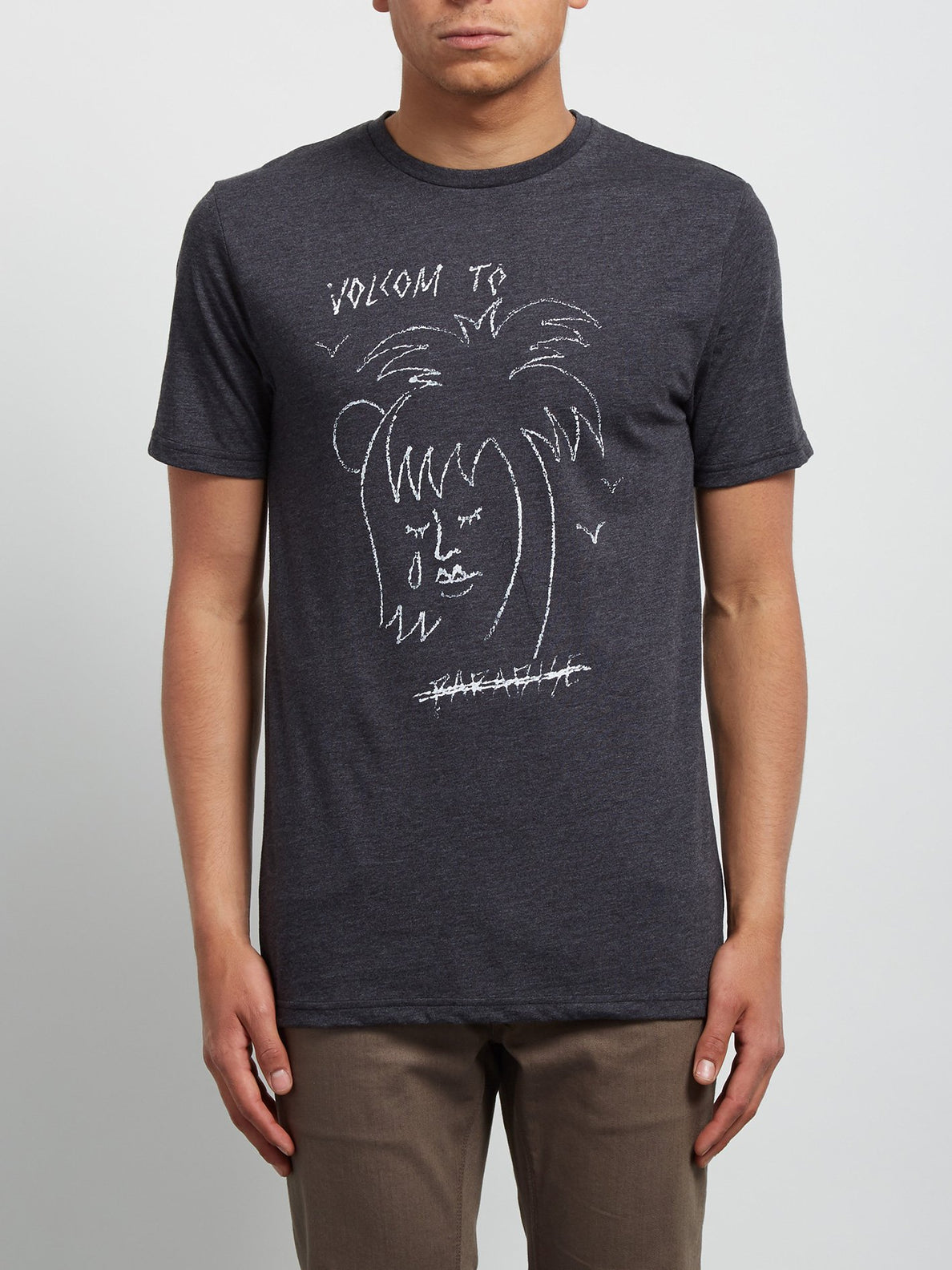 Tropical D Short Sleeve Tee - Heather Black