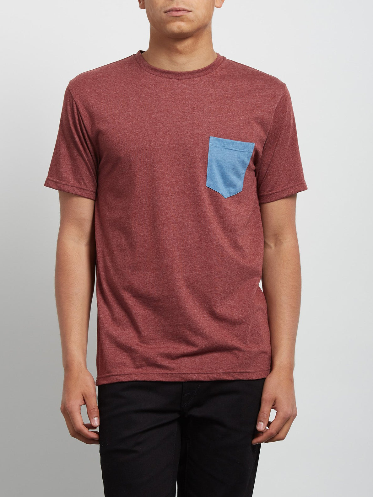 Pocket Short Sleeve Tee - Crimson