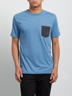 Pocket Short Sleeve Tee - Wrecked Indigo