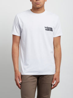 Peek A Boo Short Sleeve Tee - White