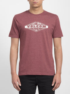 Volcom Run T-shirt  - Crimson