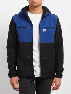Doked Zip Sweaters - Matured Blue