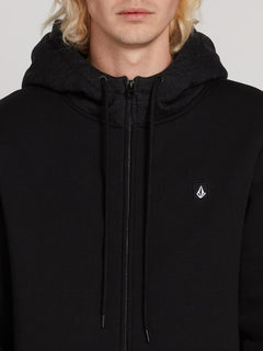 Single Stone Lined Zip Hoodie - Black (A5831900_BLK) [3]
