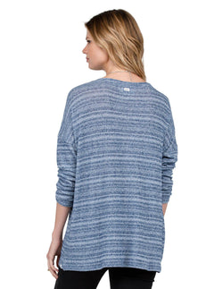 Lived In Go Crew Sweater - Blue Drift