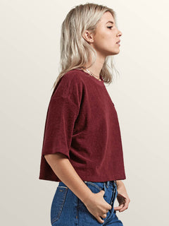 Volcom Womens Recommended 4 Me Loose Fit Long Sleeve Tee