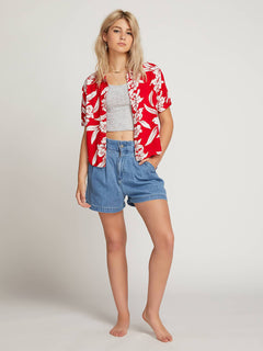 Aloha Ha Shirt  - Red