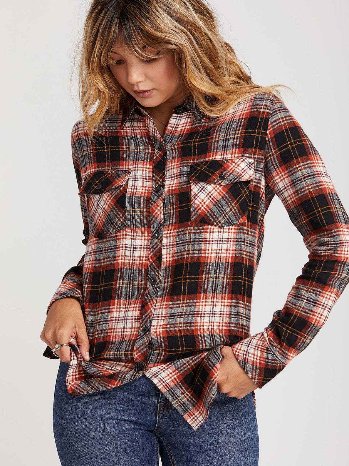 GETTING RAD PLAID LS