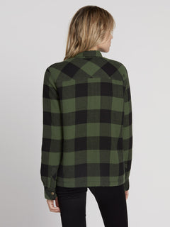 Plaid About You Shirt - Green (B0531812_GRN) [B]