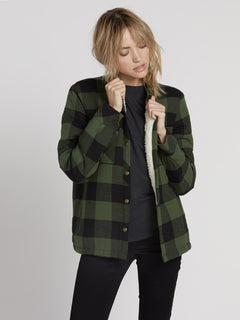 Plaid About You Shirt - Green (B0531812_GRN) [F]