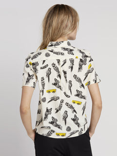 Bird Toss Shirt - White Flash (B0531909_WHF) [B]