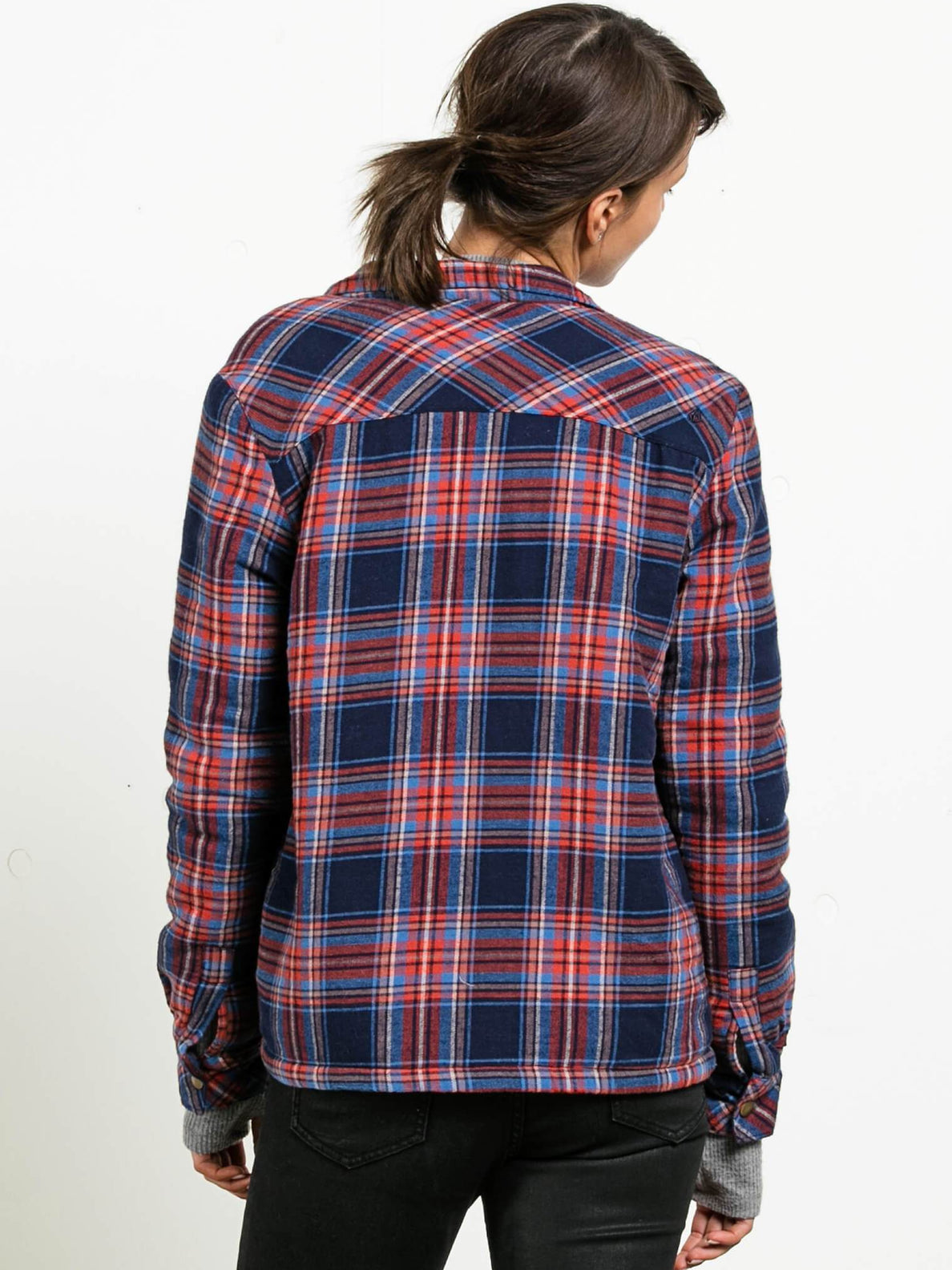 Plaid About You Long Sleeve Flannel - Midnight Blue