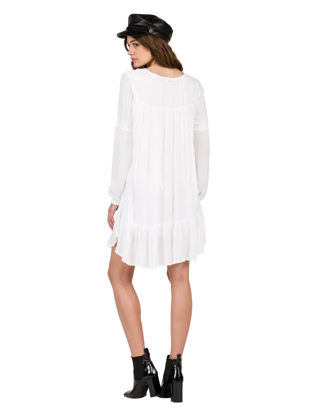 Ethos Long Sleeve Dress - White