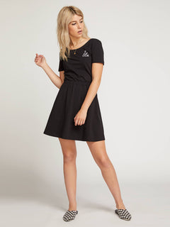 Animal Hour Dress  - Black
